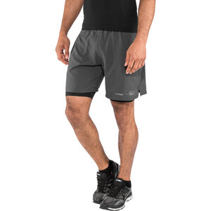 "2XU Run 2 In 1 Compression Shorts 7"" Herr charcoal/nero charcoal/nero"