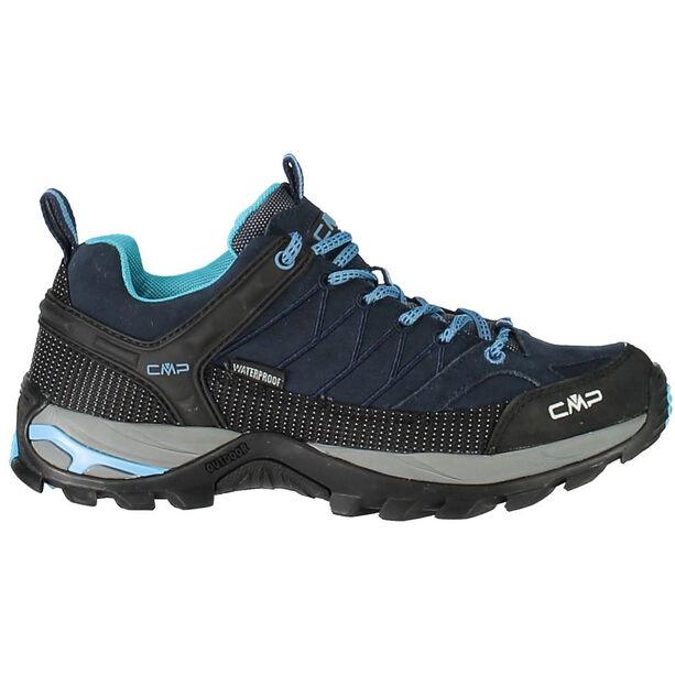 CMP Campagnolo Rigel Low WP Trekking Shoes Dam black blue-clorophilla