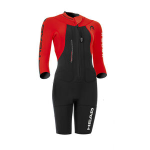 Head Swimrun Rough Shorty Suit Dam black-red black-red