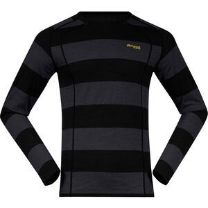 Bergans Fjellrapp Shirt Herr Solid Charcoal/Black Striped Solid Charcoal/Black Striped