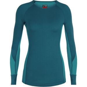 Icebreaker 260 Winterzone LS Crewe Shirt Dam kingfisher/arctic teal/prism kingfisher/arctic teal/prism