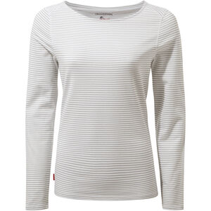 Craghoppers NosiLife Erin Long Sleeved Top Dam soft grey marl stripe soft grey marl stripe