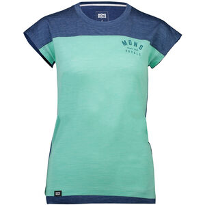 Mons Royale Zephyr Lite Tee Dam oily blue/peppermint oily blue/peppermint