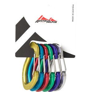 AustriAlpin Micro Friends Wiregate Carabiner Set 6 pieces multicolor multicolor