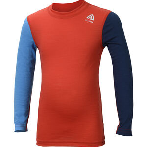 Aclima LightWool LS Crew Neck Shirt Barn high risk red/blithe/insignia blue high risk red/blithe/insignia blue