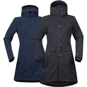 Bergans Bjerke 3in1 Coat Dam solid charcoal/night blue solid charcoal/night blue