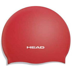 Head Silicone Moulded Swimcap red red