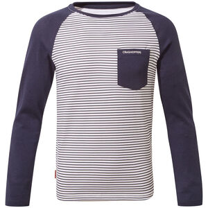Craghoppers NosiLife Lorenzo Long Sleeved T-Shirt Pojkar blue navy stripe/blue navy blue navy stripe/blue navy