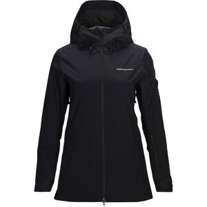 Peak Performance Anima Long Jacket Dam Black Black