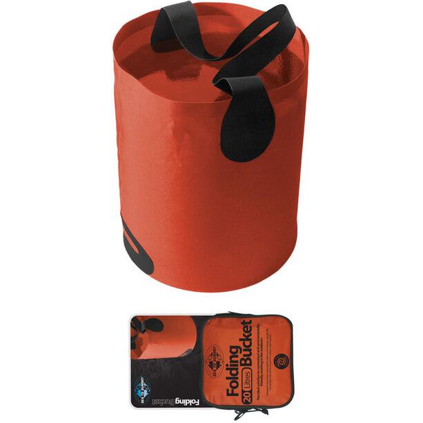 Sea to Summit Folding Bucket 20L orange