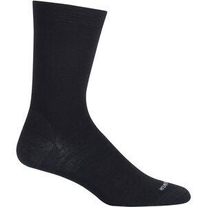 Icebreaker LifeStyle Fine Gauge UL Crew Socks black/twister hthr black/twister hthr