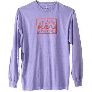 KAVU Adventure Time LS T-Shirt Herr faded purple faded purple