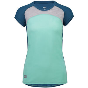 Mons Royale Bella Tech Tee Dam oily blue/peppermint/grey marl oily blue/peppermint/grey marl