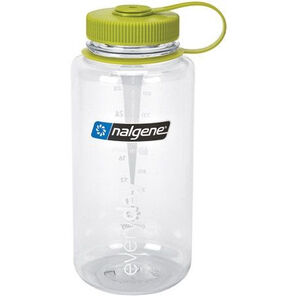 Nalgene Wide Mouth Bottles 1l clear/green tritan clear/green tritan
