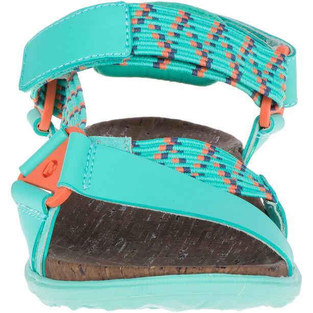 Merrell Around Town Sunvue Woven Sandals Dam turquoise