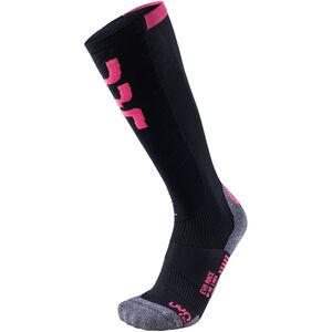 UYN Evo Race Ski Socks Dam black/pink paradise black/pink paradise
