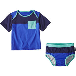 Patagonia Little Sol Swim Set Barn imperial blue imperial blue