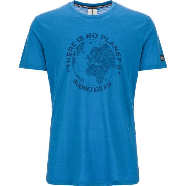 super.natural Graphic T-shirt Herr vallarta blue/navy blazer planet b