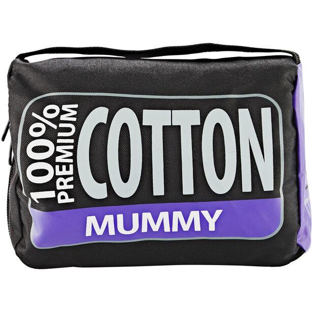 Sea to Summit Premium Cotton Travel Liner Mummy navy blue