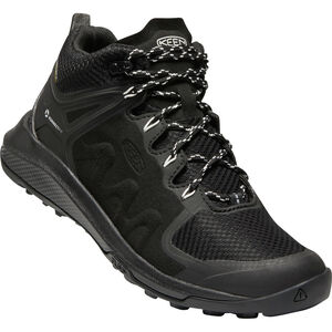 Keen Explr WP Mid Shoes Dam Black/Star White Black/Star White