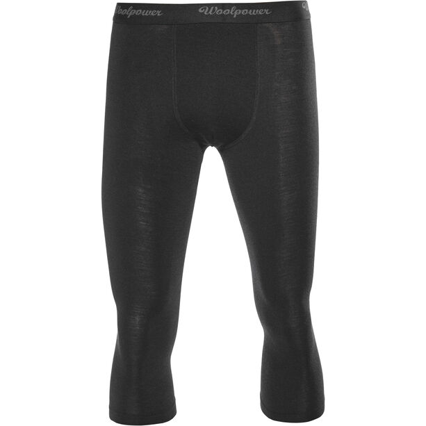 Woolpower Lite 3/4 Long Johns with fly Herr black