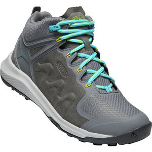 Keen Explr WP Mid Shoes Dam Steel Grey/Bright Turquoise Steel Grey/Bright Turquoise