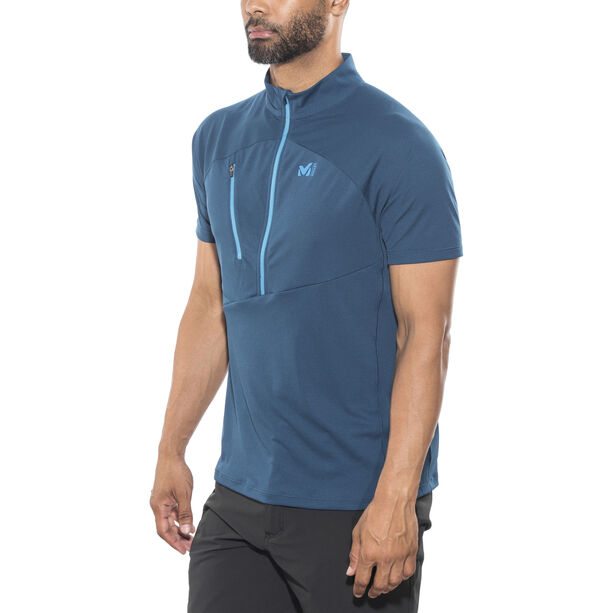 Millet Elevation Short Sleeve Zip Shirt Herr poseidon