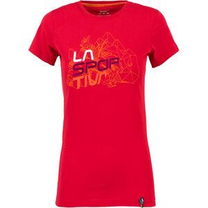 La Sportiva Cubic T-shirt Dam garnet garnet