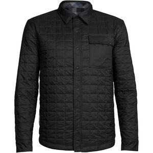 Icebreaker Helix LS Shirt Herr black/gritstone hthr/plaid black/gritstone hthr/plaid