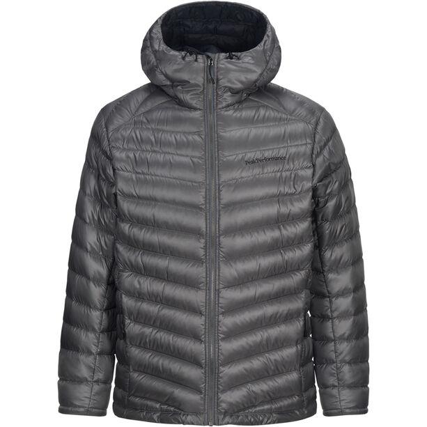 Peak Performance Ice Down Hooded Jacket Herr quiet grey
