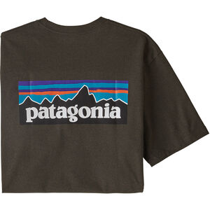 Patagonia P-6 Logo Responsibili Tee Herr logwood brown logwood brown