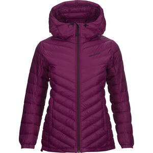 Peak Performance Frost Down Hooded Jacket Dam blood cherry blood cherry