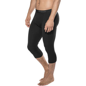 Woolpower Lite 3/4 Long Johns with fly Herr black black