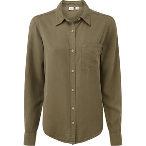 tentree Fernie Button-Up LS Shirt Dam Olive Night Green Olive Night Green