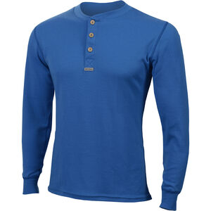 Aclima WarmWool Granddad Shirt Herr brilliant blue brilliant blue