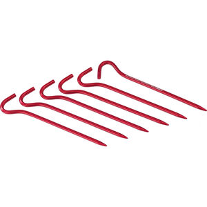 MSR Hook Stake Kit 6 Pack red red