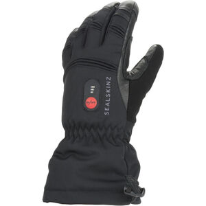 Sealskinz Waterproof Heated Gauntlet Black Black