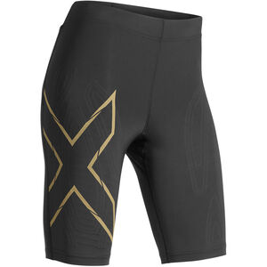 2XU MCS Run Shorts Dam black/gold reflective black/gold reflective