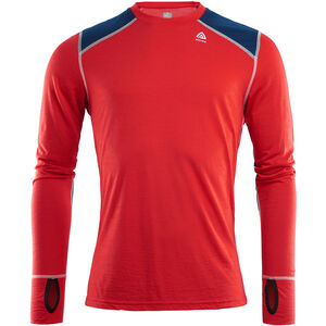 Aclima LightWool Reinforced Crew Neck Shirt Herr high risk red/insignia blue high risk red/insignia blue