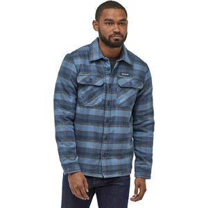Patagonia Insulated Fjord Flannel Jacket Herr observer/woolly blue observer/woolly blue