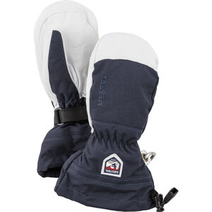 Hestra Army Leather Heli Ski Mittens Barn navy navy