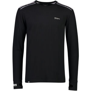 Mons Royale Alta Tech LS Crew Baselayer Herr black/grey marl black/grey marl
