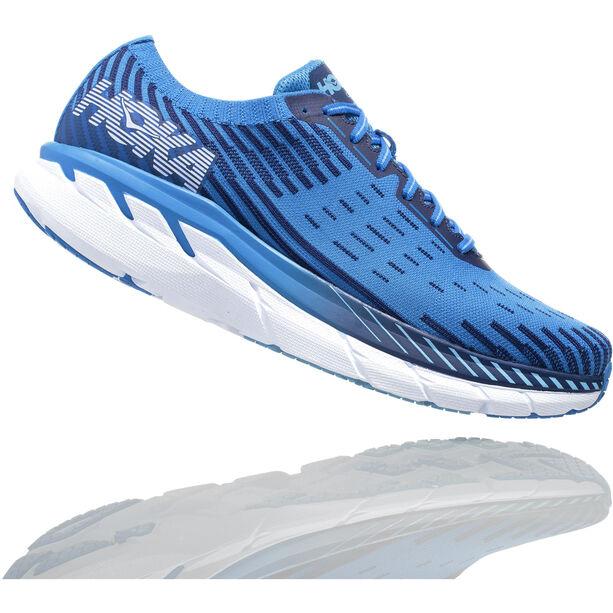 Hoka One One Clifton 5 Knit Running Shoes Herr french blue/twilight blue