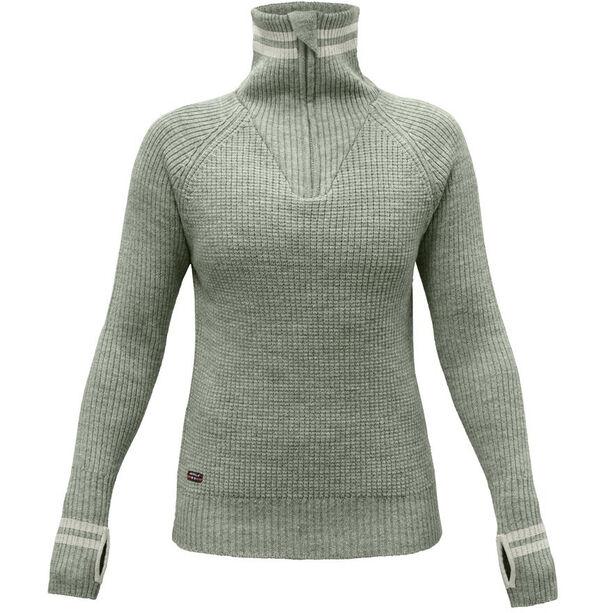 Devold Varde Zip Neck Sweater Dam fog