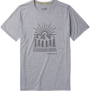 Smartwool Merino Sport 150 Mountain Morning Tee Herr light gray heather light gray heather