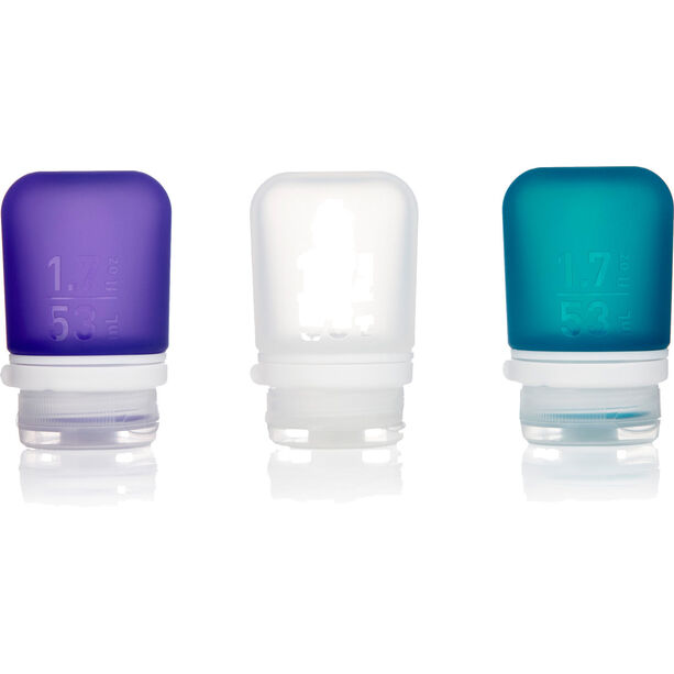 humangear GoToob+ 3-Pack Small 53ml clear/purple/turquoise