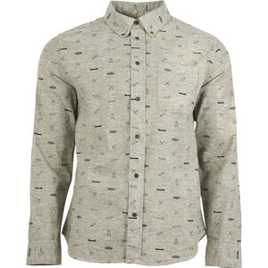 United By Blue Norde Stretch LS Button Down Herr olive-paddle olive-paddle