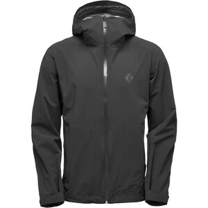 Black Diamond Stormline Stretch Rain Shell Jacket Herr black black