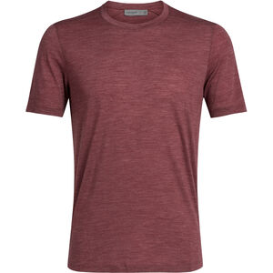 Icebreaker Sphere SS Crewe Shirt Herr cabernet heather cabernet heather