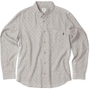 tentree Mancos LS Button Up Shirt Herr heathered vetiver-tree dobby olive night heathered vetiver-tree dobby olive night
